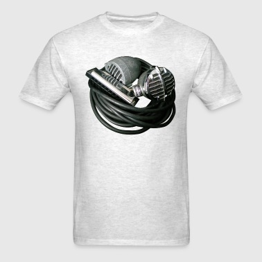 Harmonica and Vintage Bullet Mics - Men's T-Shirt