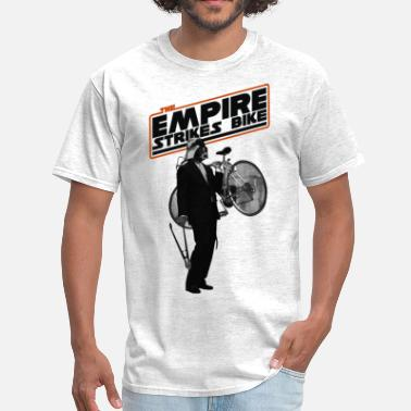 Darth Vader Bike skyfun_empire_bike_white - Men's T-Shirt