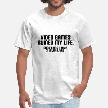Halo Video Game Video Games Ruined My Life BLACK - Men's T-Shirt