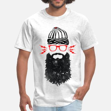 Beard Nerd Nerd Beard Glasses - Men's T-Shirt