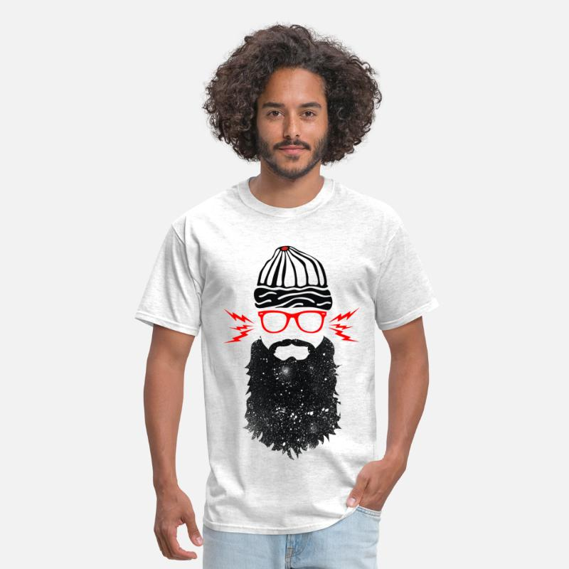 Beard T-Shirts - Nerd Beard Glasses - Men's T-Shirt light heather grey
