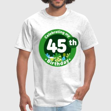 45th Birthday Party Celebration - Men's T-Shirt