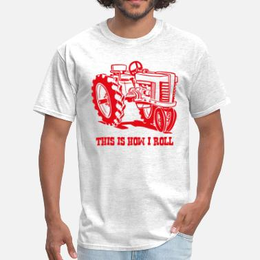 Antique This Is How I Roll Tractor Red - Men's T-Shirt