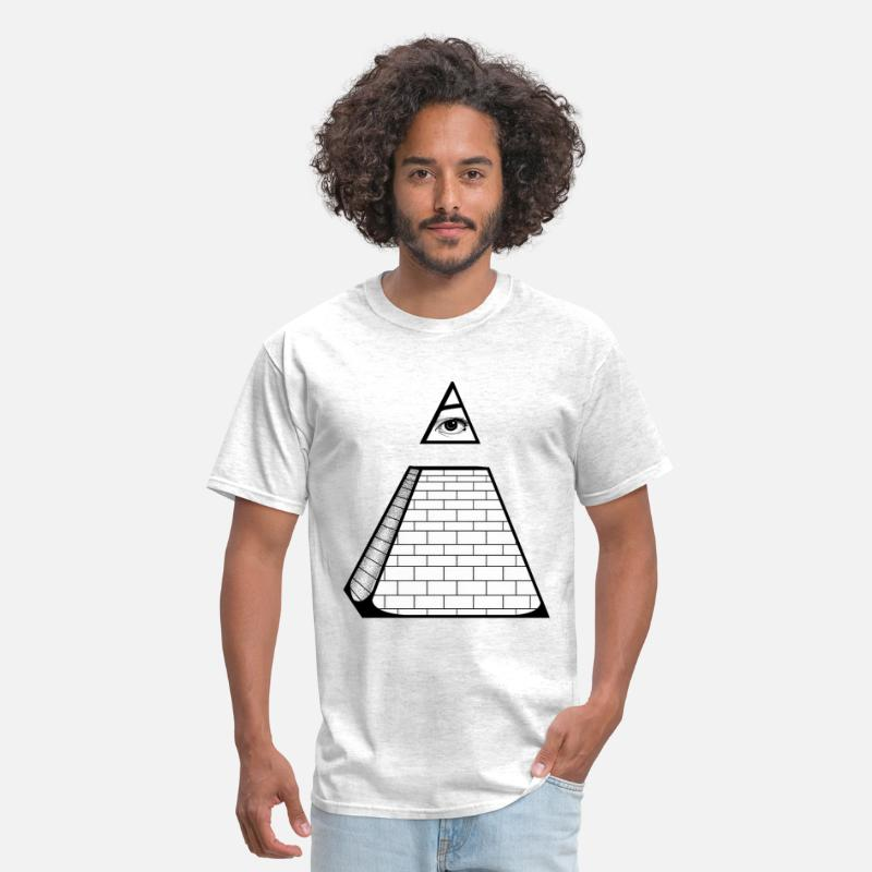 Cool T-Shirts - All Seeing Pyramid - Men's T-Shirt light heather grey