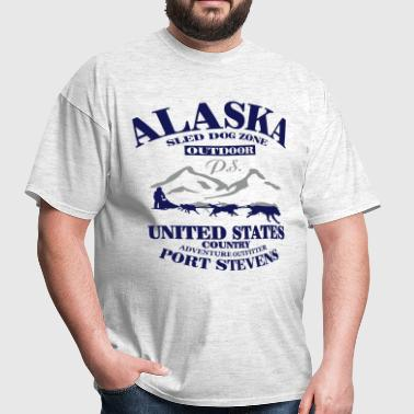 Husky - dog sled - Yukon Quest - Alaska  - Men's T-Shirt