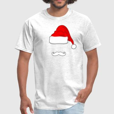 Santa Mustache Santa Hat and Mustache - Men's T-Shirt
