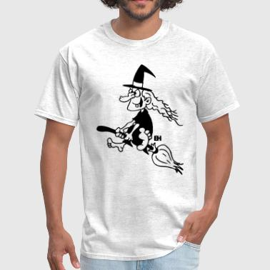 Witch on a broom - Men's T-Shirt
