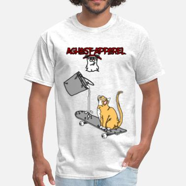Aghast Skate-Cat by: Aghast-Apparel (Any Color) - Men's T-Shirt