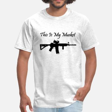 Spartan Gun Rights This is my musket ar15 - Men's T-Shirt