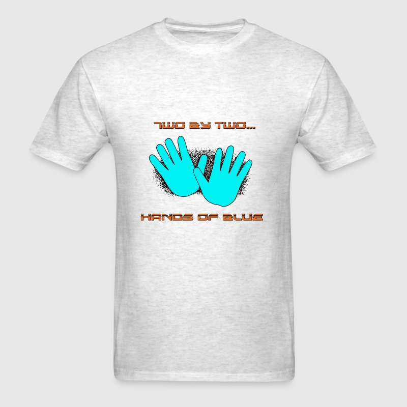 two by two hands of blue - Men's T-Shirt