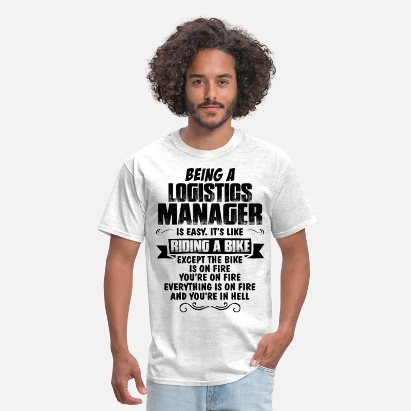Manager T-Shirts - Being A Logistics Manager... - Men's T-Shirt light heather grey