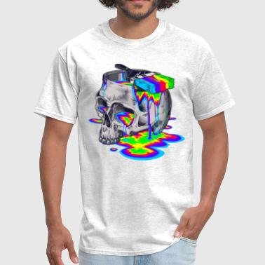 skull with paint - Men's T-Shirt