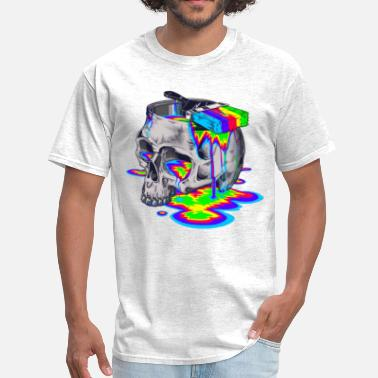 Skull Painted skull with paint - Men's T-Shirt