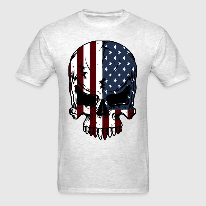 American Flag Skeleton - Men's T-Shirt