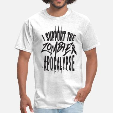 Apoc I support the zombie apoc - Men's T-Shirt