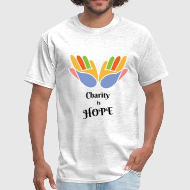 charity is hope - Men's T-Shirt