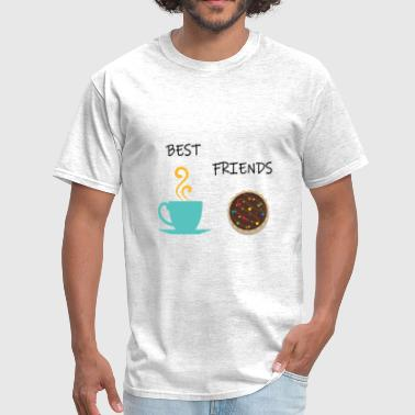 Biscuit Best Friends Coffee and Cookie Design - Men's T-Shirt