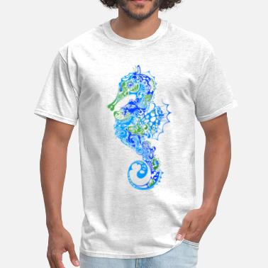 Animal Seahorse abstract - Men's T-Shirt