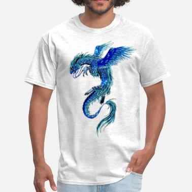 Japanese Art dragon colorful - Men's T-Shirt