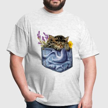 Cat in the pocket - Men's T-Shirt