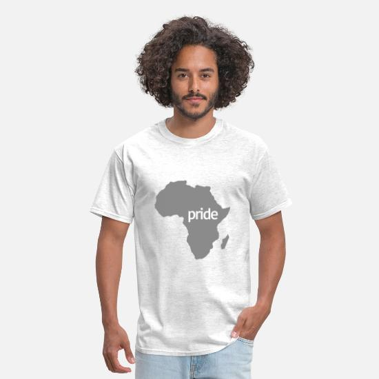 Africa T-Shirts - African pride - Men's T-Shirt light heather grey