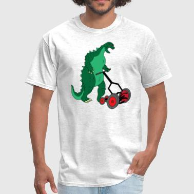 Mowing The Lawn Godzilla Mowing the Lawn - Men's T-Shirt