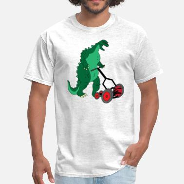 Mowing Lawn Godzilla Mowing the Lawn - Men's T-Shirt