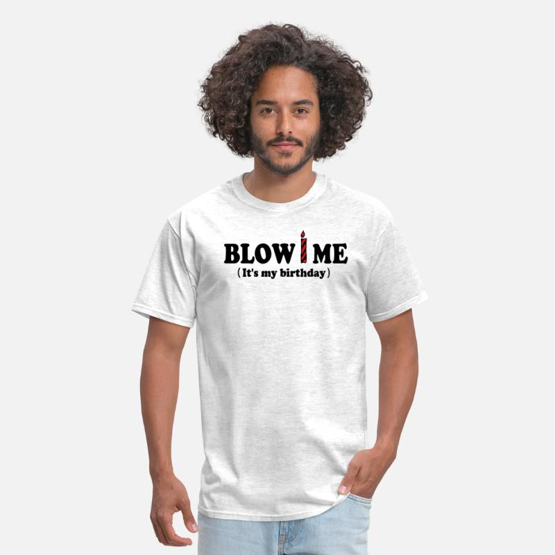 Birthday T-Shirts - Blow ME (It's my birthday) - Men's T-Shirt light heather grey
