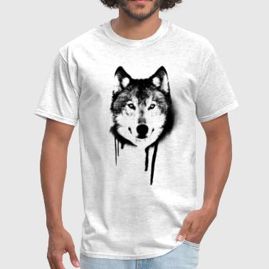 wolf Graffiti black - Men's T-Shirt