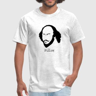 William Shakespeare Silhouette & Hirsute - Men's T-Shirt