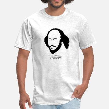Hirsute William Shakespeare Silhouette & Hirsute - Men's T-Shirt
