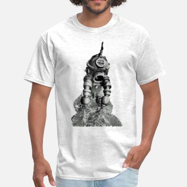 Commercial Vintage Diver with Tritonia  Diving Armor - Men's T-Shirt