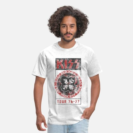 Kiss T-Shirts - Kiss Rock And Roll All Over - Men's T-Shirt light heather grey