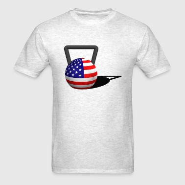 Flag Kettlebell - Men's T-Shirt