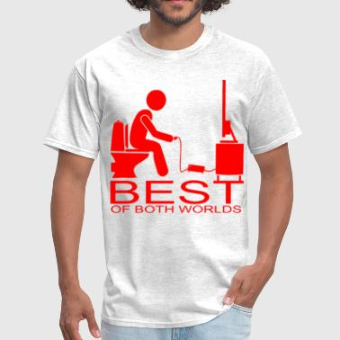 Shit Piss Video Games On Crapper  ©WhiteTigerLLC.com  	 # - Men's T-Shirt