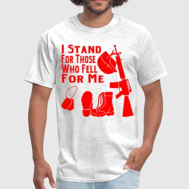 Amendment Patriot I Stand For Those Who Fell For Me  ©WhiteTigerLLC. - Men's T-Shirt