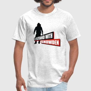 snowden - i stand with snowden - Men's T-Shirt