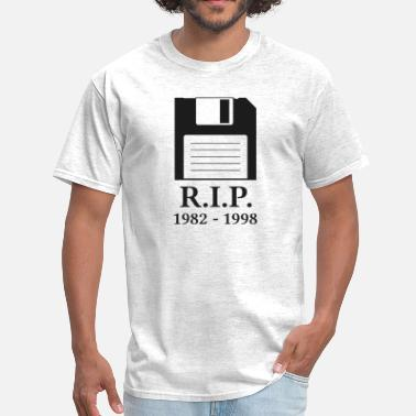 Disk Rest in Peace RIP Floppy Disk - Men's T-Shirt