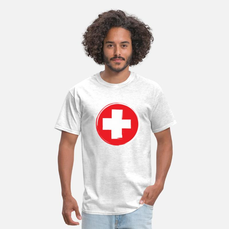 First Aid T-Shirts - First Aid Symbol - Men's T-Shirt light heather grey