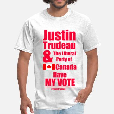 Liberal Party Canada Trudeau has my vote - Men's T-Shirt
