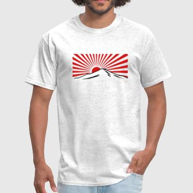 Mt. Fuji with rising sun japan - Men's T-Shirt