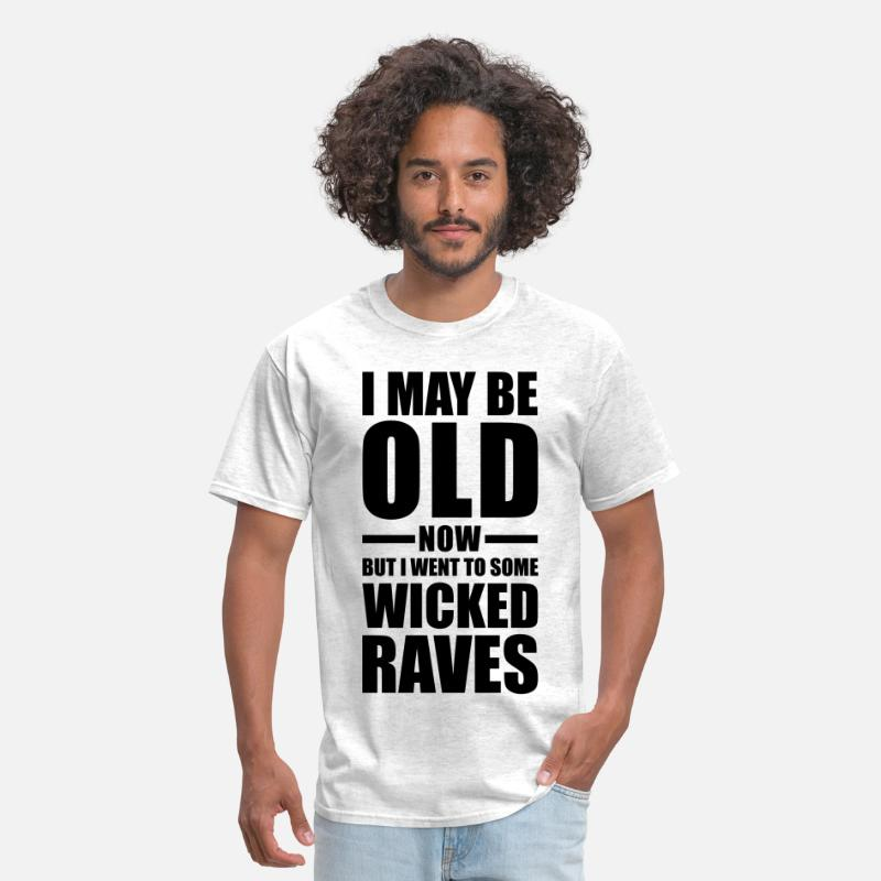 Rave T-Shirts - Wicked Raves EDM Quote - Men's T-Shirt light heather grey