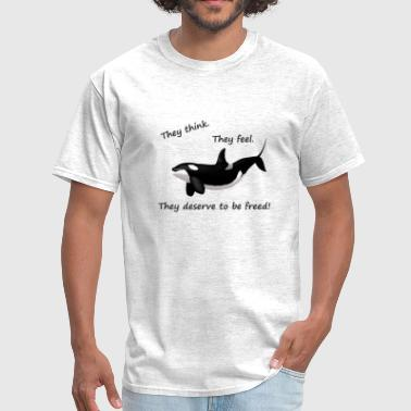 Free Orca free whales 2 - Men's T-Shirt