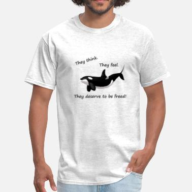 Greenpeace Save The Whales free whales 2 - Men's T-Shirt