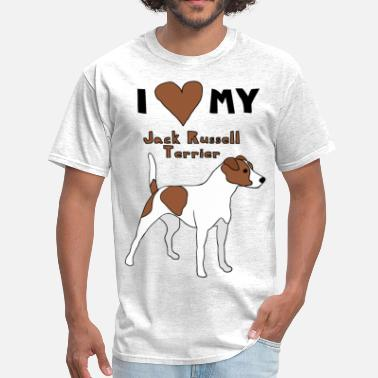 I Love My Jack Russell Terrier  i heart my jack russell terrier - Men's T-Shirt