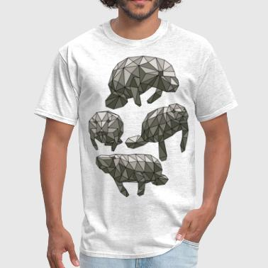Manatee Design Geometric Manatees - Men's T-Shirt
