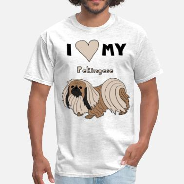 My Pekingese  i heart my pekingese - Men's T-Shirt