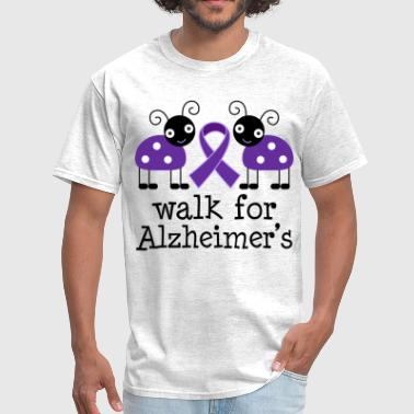 Alzheimer's Walk Ribbon - Men's T-Shirt