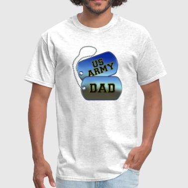 Army Dad Dog Tags - Men's T-Shirt