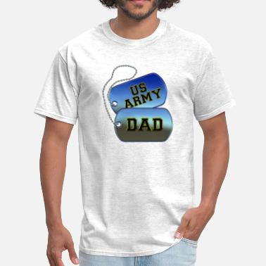 Army Tags Army Dad Dog Tags - Men's T-Shirt